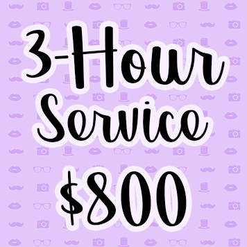 3-Hour Photo Booth Rental Service - $600