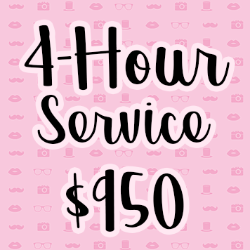 4-Hour Photo Booth Rental Service - $750